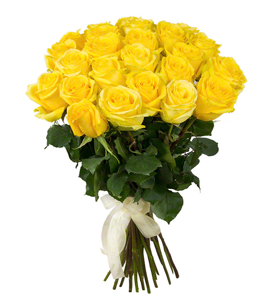 12 Yellow Roses Bunch India Cakes N Flowers