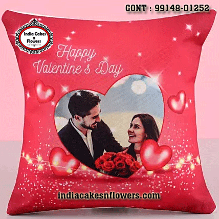 Adorable Personalized Cushion Valentine Gifts For Husband India Cakes N Flowers